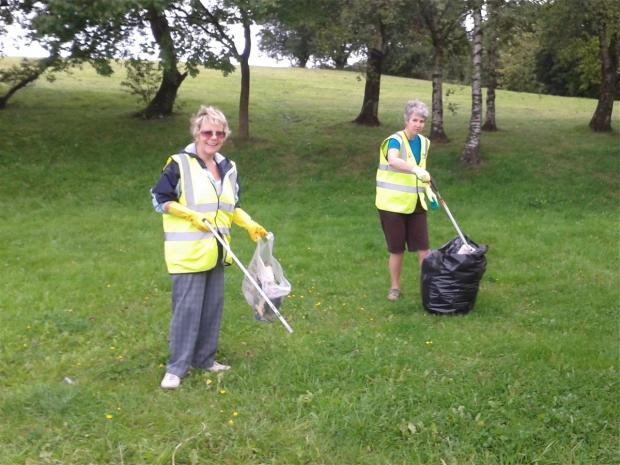 Golborne Village regularly organise litter picks