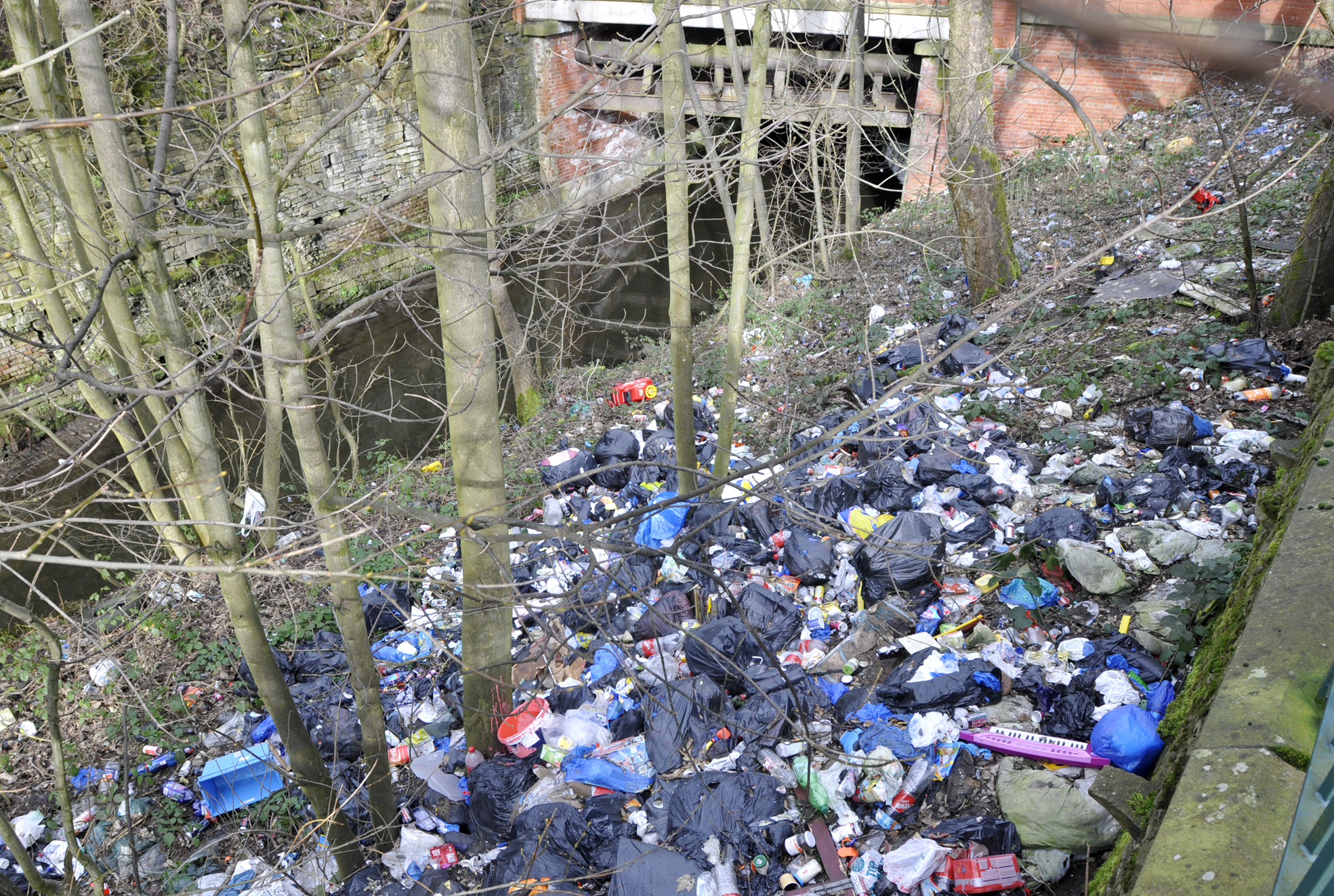 Mountain of rubbish dumped in Bolton beauty spot