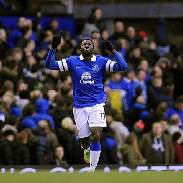 The Bolton News: Romelu Lukaku celebrates after netting the winner at Goodison Park