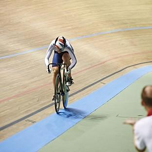 Becky James is into the Keirin semi-finals