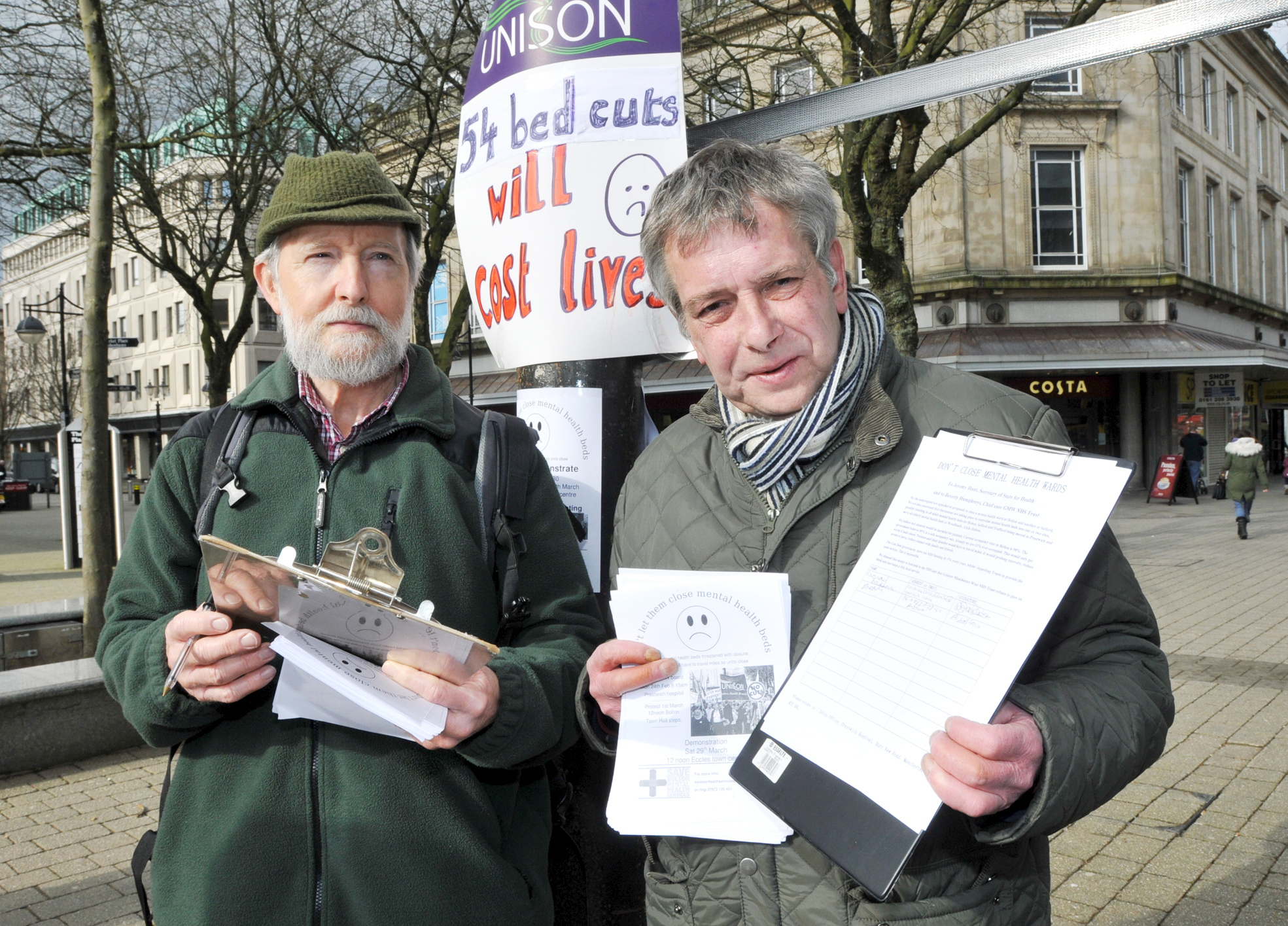 Town centre protest: 'Save our threatened mental health beds'