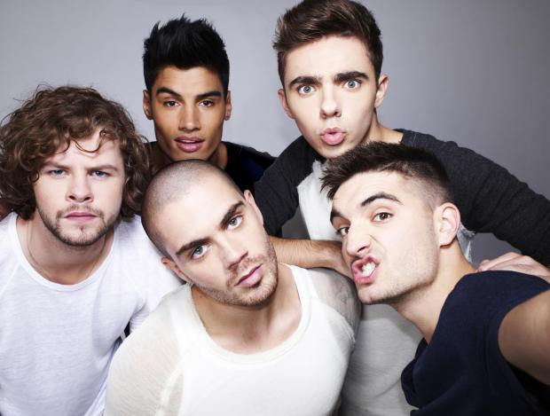 The Wanted, including Tom Parker (far right)