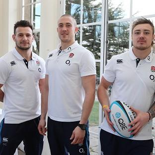 Danny Care, left, Mike Brown, centre, and Jack Nowell are ready to face Wales