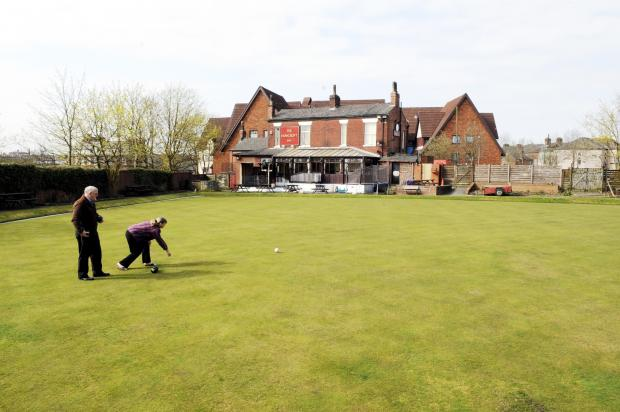 The Bolton News: The Howcroft bowling green in its hey day
