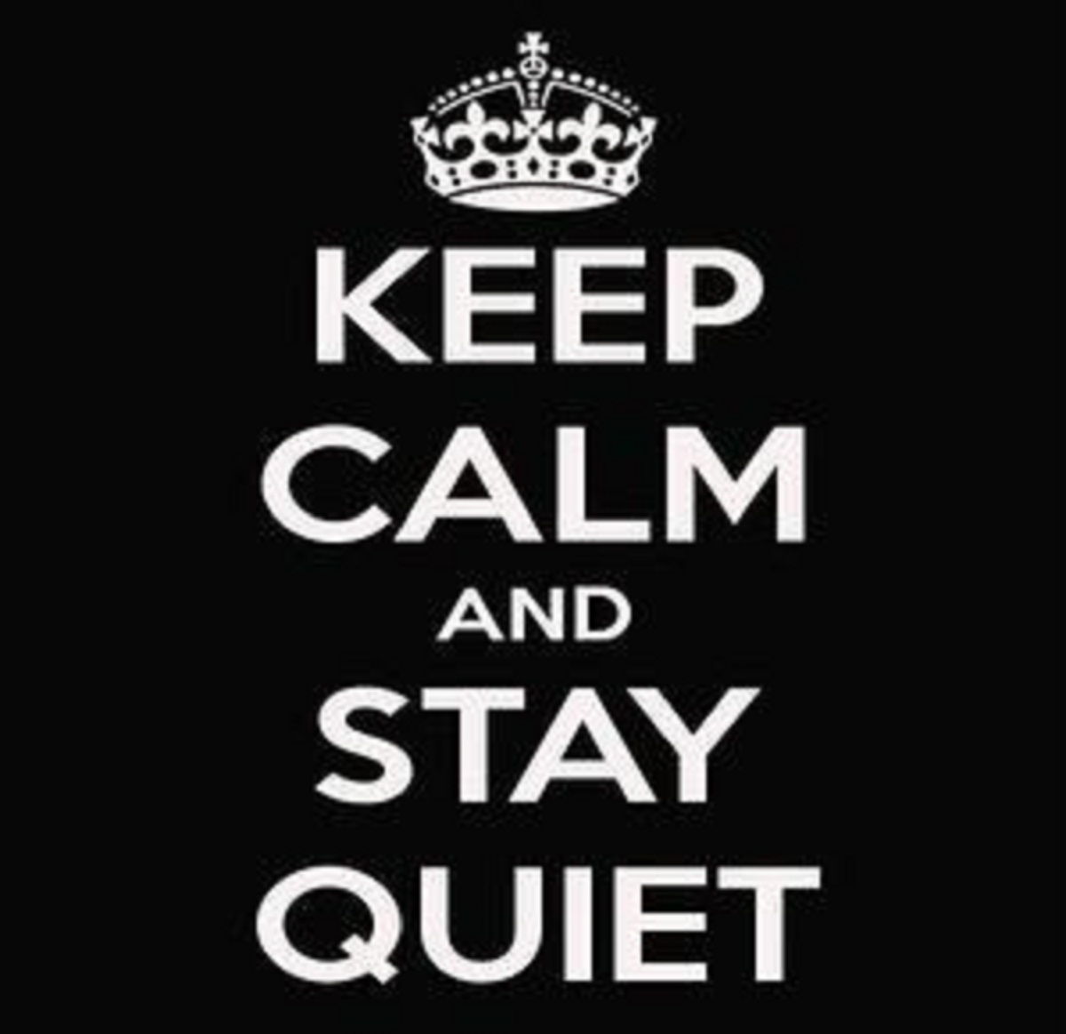Keep calm and stay quiet: the Silent Weekend logo