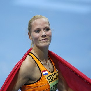 Holland's Nadine Broersen won the first medal of the World Indoor Championships on Friday (AP)