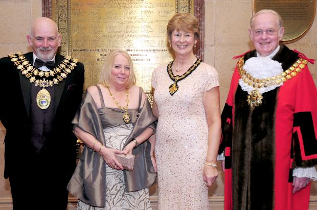 The Bolton News: From left, the Mayor and Mayoress of Stockport Cllr Ch