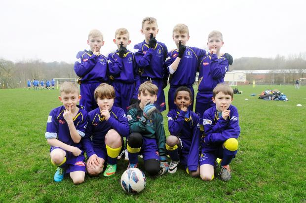 Bolton Lads and Girls Club Under-9s get into the spirit of junior football's Silent Weekend