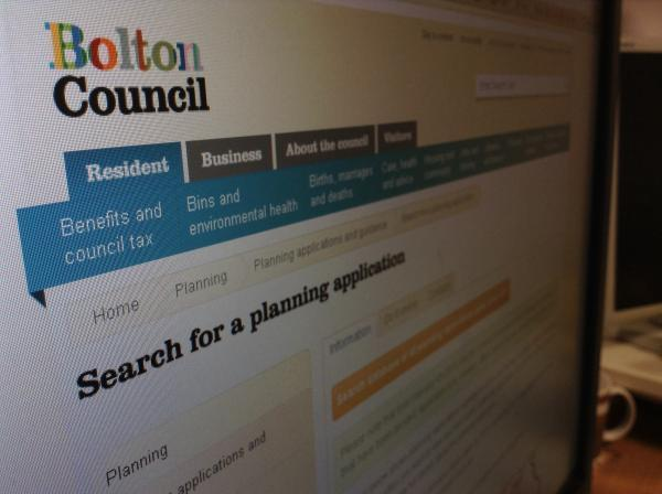 Bolton Council's planning website