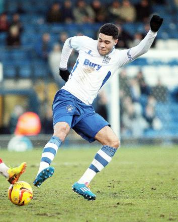 Bury's on-loan Blackburn Rovers striker Anton Forrester