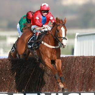 Sire de Grugy, ridden by Jamie Moore, won the BetVictor Queen Mother C