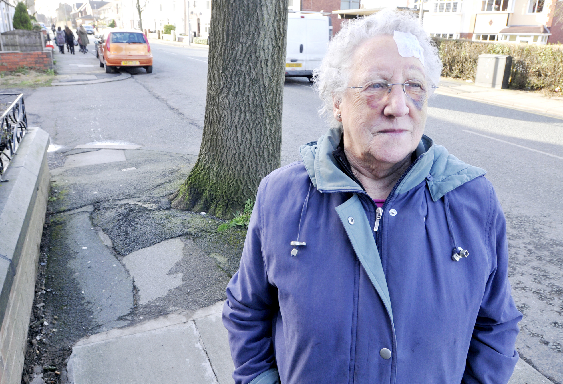 Great-grandmother blasts council after tripping on uneven pavement