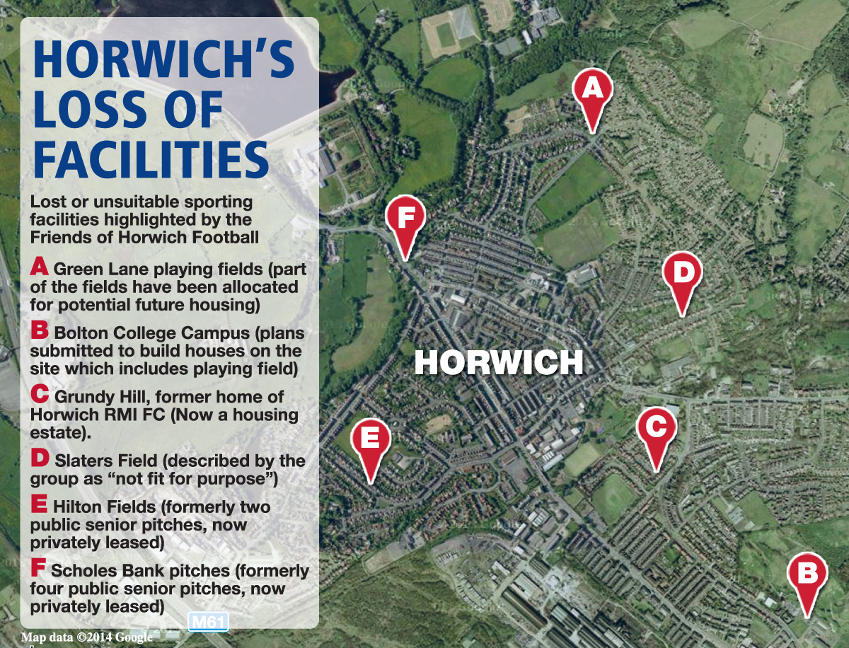 'Horwich has lost its sporting identity', say residents as football teams leave town and pitches fall into disrepair