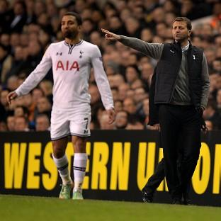 Tim Sherwood, right, says Tottenham will 'have a go' in the second leg