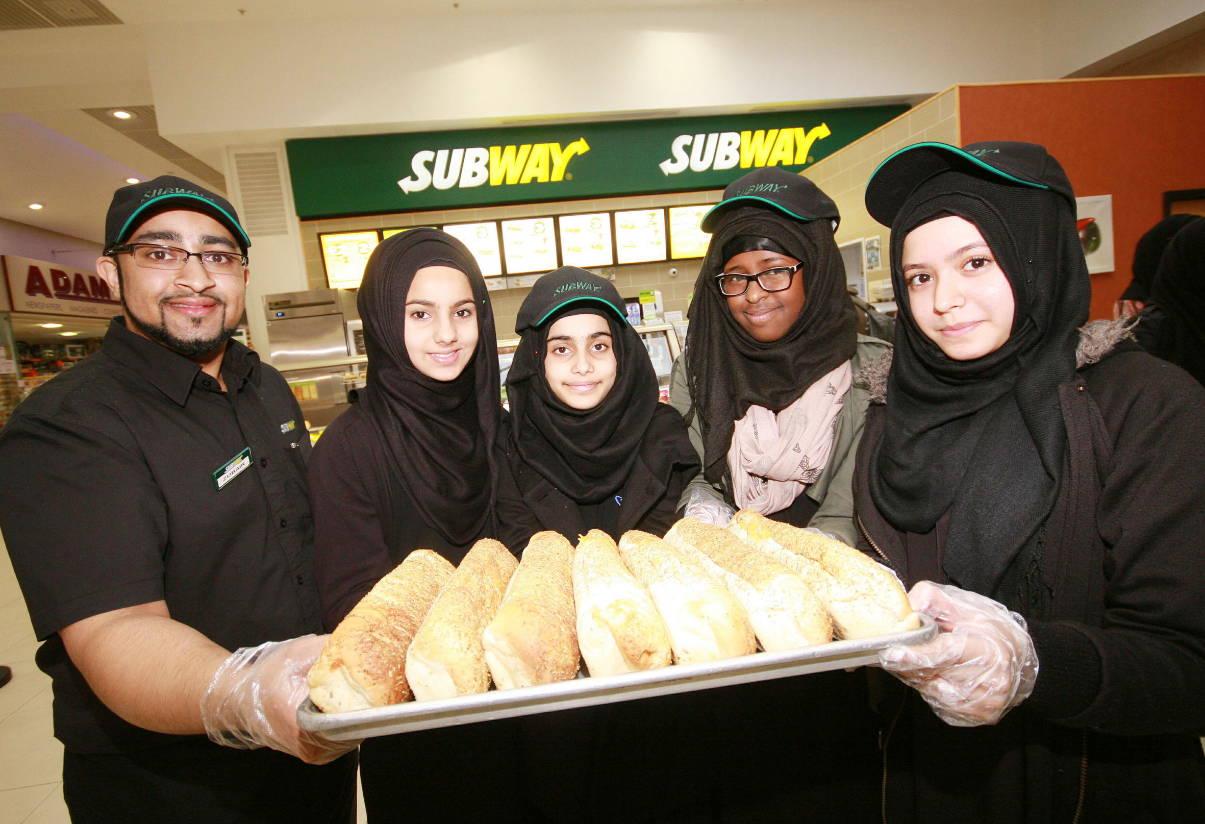 Schoolchildren get lessons in how to make fast food at Subway