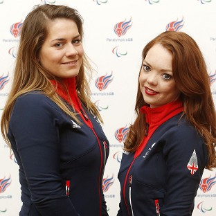Jade Etherington, right, and guide Caroline Powell claimed another silver in Sochi