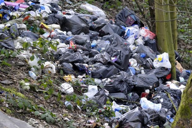 Fly-tippers have been using the site as a dump