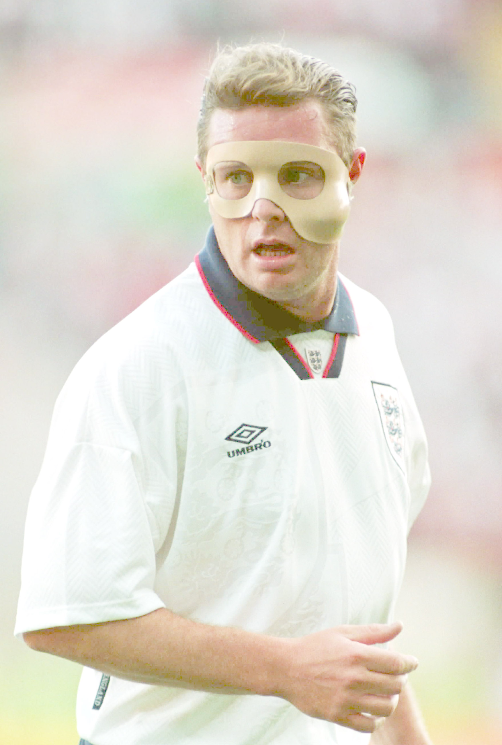 Paul Gascoigne could always produce something out of the ordinary - even when playing in a mask