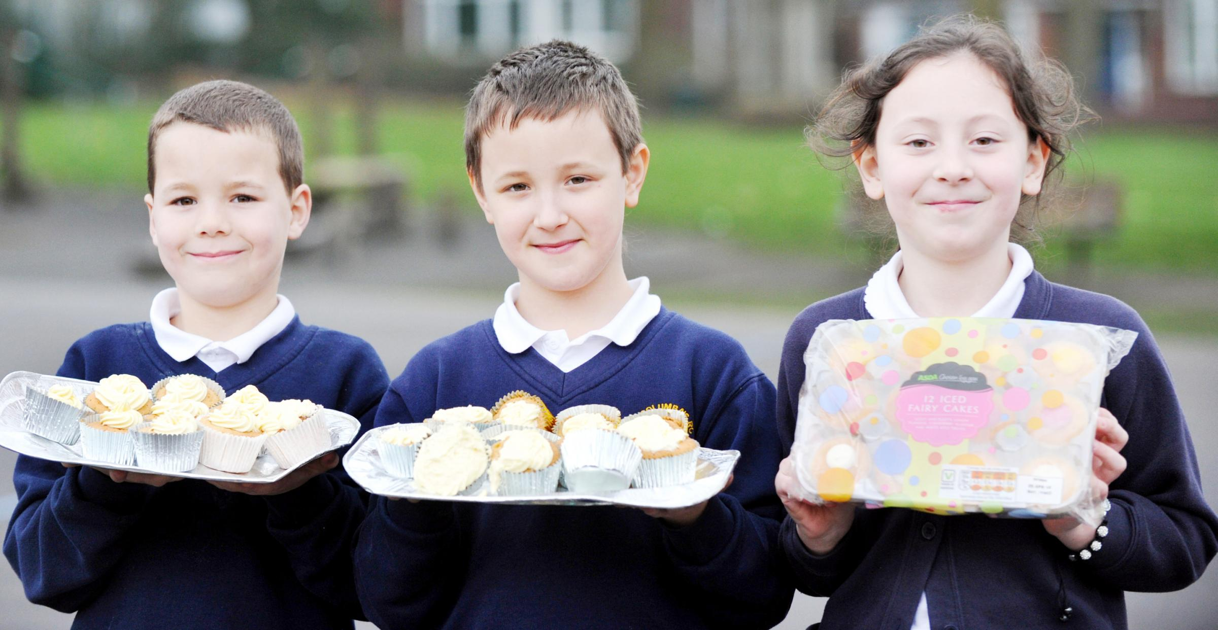 Pupils at St Columba's in Tonge Moor sell cakes to help children in Africa