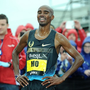 Farah recovers after New York fall