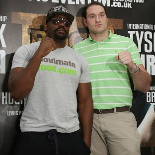 Dereck Chisora, left, and Tyson Fury, right, will fight one another in July