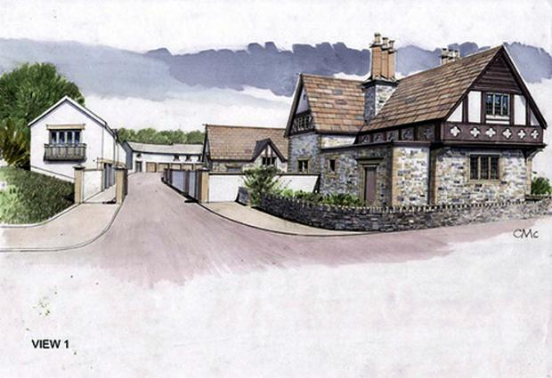 An artist's impression of the proposed development at Smithills Coaching House