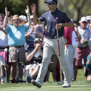 Adam Scott hit a course record-equalling 62 in the first round of the Arnold Palmer Invitational (AP)