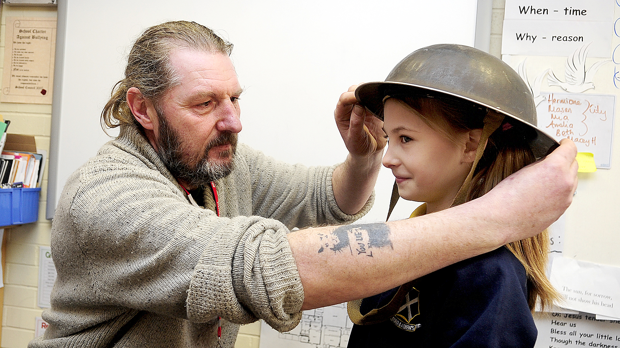 School children learn the horrors of World War One