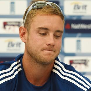 England Twenty20 captain Stuart Broad has been fined over his comments regarding the umpires in his team's World T20 opener