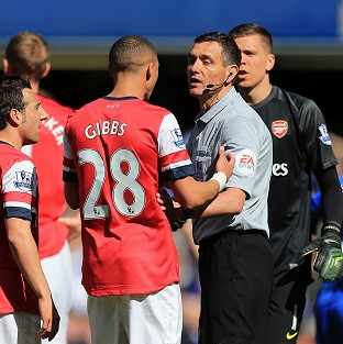 Andre Marriner sent off Arsenal's Kieran Gibbs by mistake