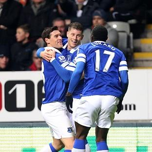 Everton's Ross Barkley, centre, scored a spectacular goal for Everton against Newcastle