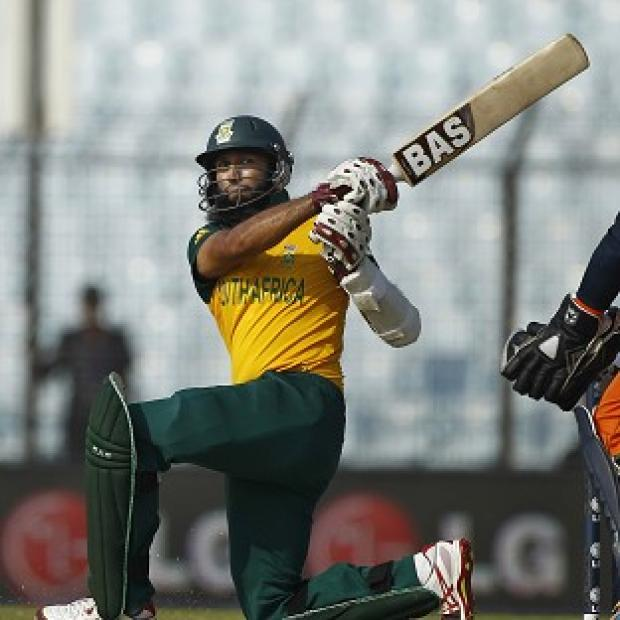 The Bolton News: Hashim Amla top-scored for South Africa with 43 (AP)