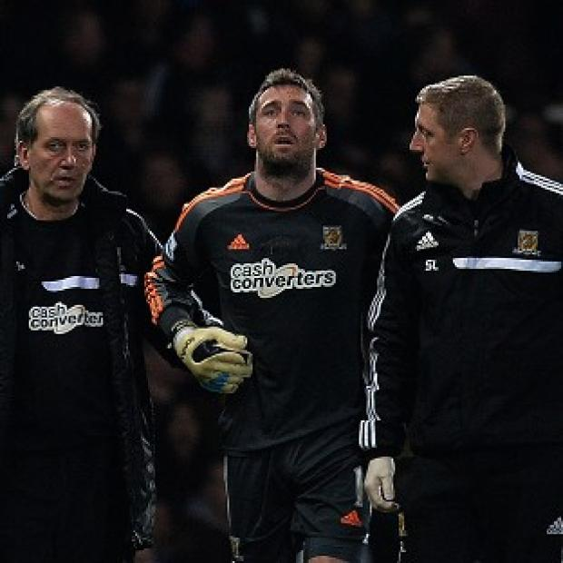 The Bolton News: Hull goalkeeper Allan McGregor is set to be ruled out for the rest of the season with kidney damage