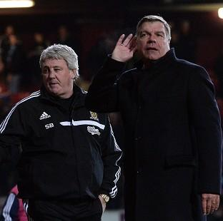 The Bolton News: Sam Allardyce, right, was unhappy with the full-time boos