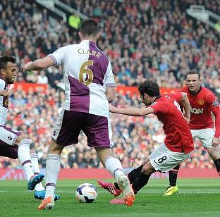 Juan Mata, right, scored United's third