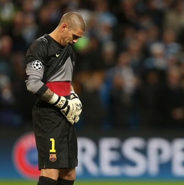 The Bolton News: Barcelona goalkeeper Victor Valdes is expected to be sidelined for seven months after undergoing knee surgery