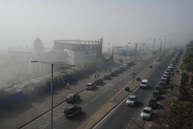 The Bolton News: Smog in the south of England this morning. The cloud is forecast to move northwards.