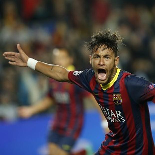 The Bolton News: Neymar equalised for Barcelona against Atletico Madrid (AP)