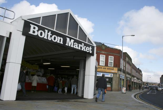 Bolton Market, where eight stalls have been given the lowest food hygiene ratings by the Food Standards Agency