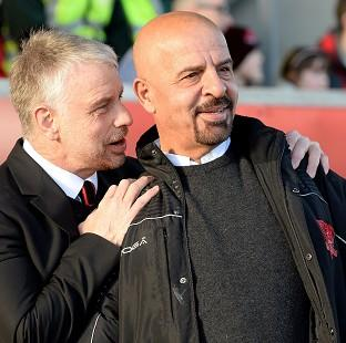 The Bolton News: Marwan Koukash, right, said he had moved Brian Noble upstairs