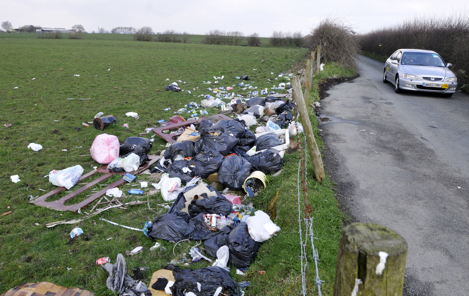 Farnworth farm turned into dump by fly-tippers