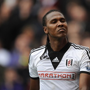 Fulham's Hugo Rodallega celebrates scoring his side's winning goal