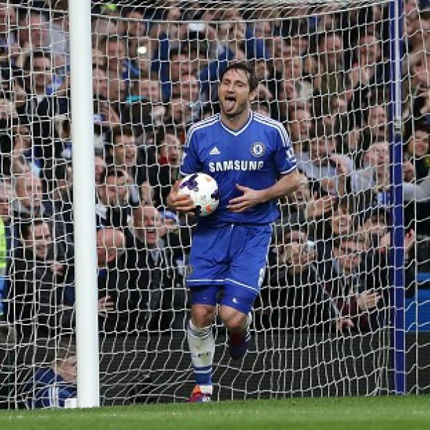 The Bolton News: Frank Lampard netted Chelsea's second in their 3-0 win over Stoke