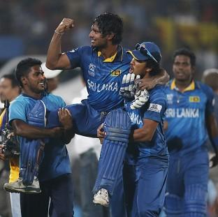 Kumar Sangakkara, centre, guided Sri Lanka to World Twenty20 glory (AP)