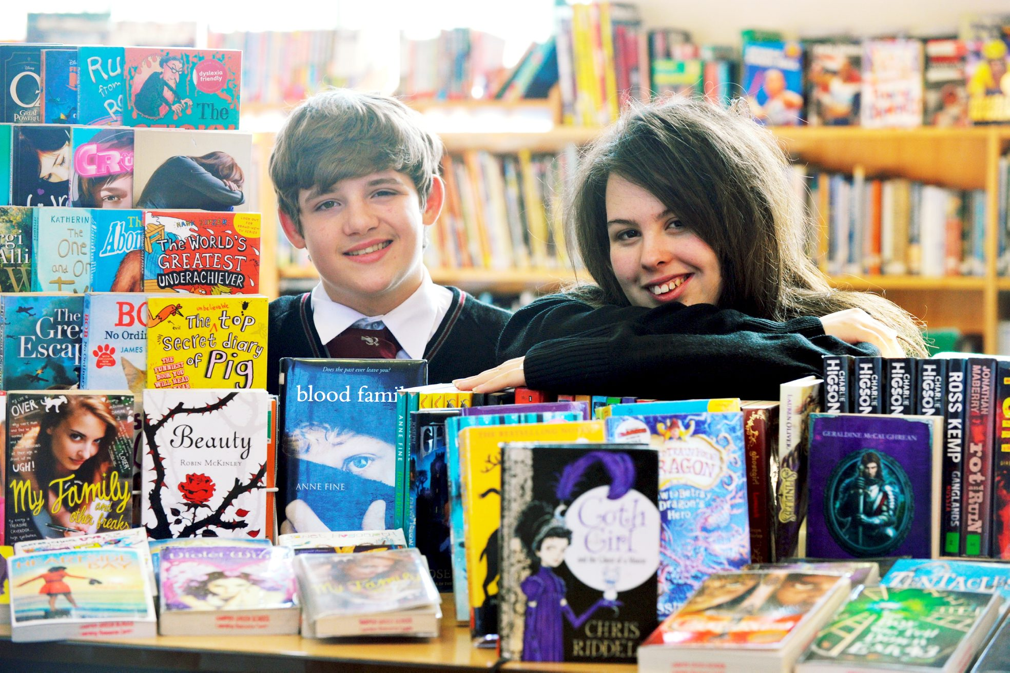 Jordan Greenhalgh and Claire Chadwick find plenty to read at Harper Green School