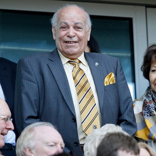 Assem Allam, centre, wants to change his club's name to Hull Tigers