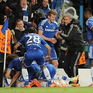 Jose Mourinho, centre right, hailed his side's fighting spirit