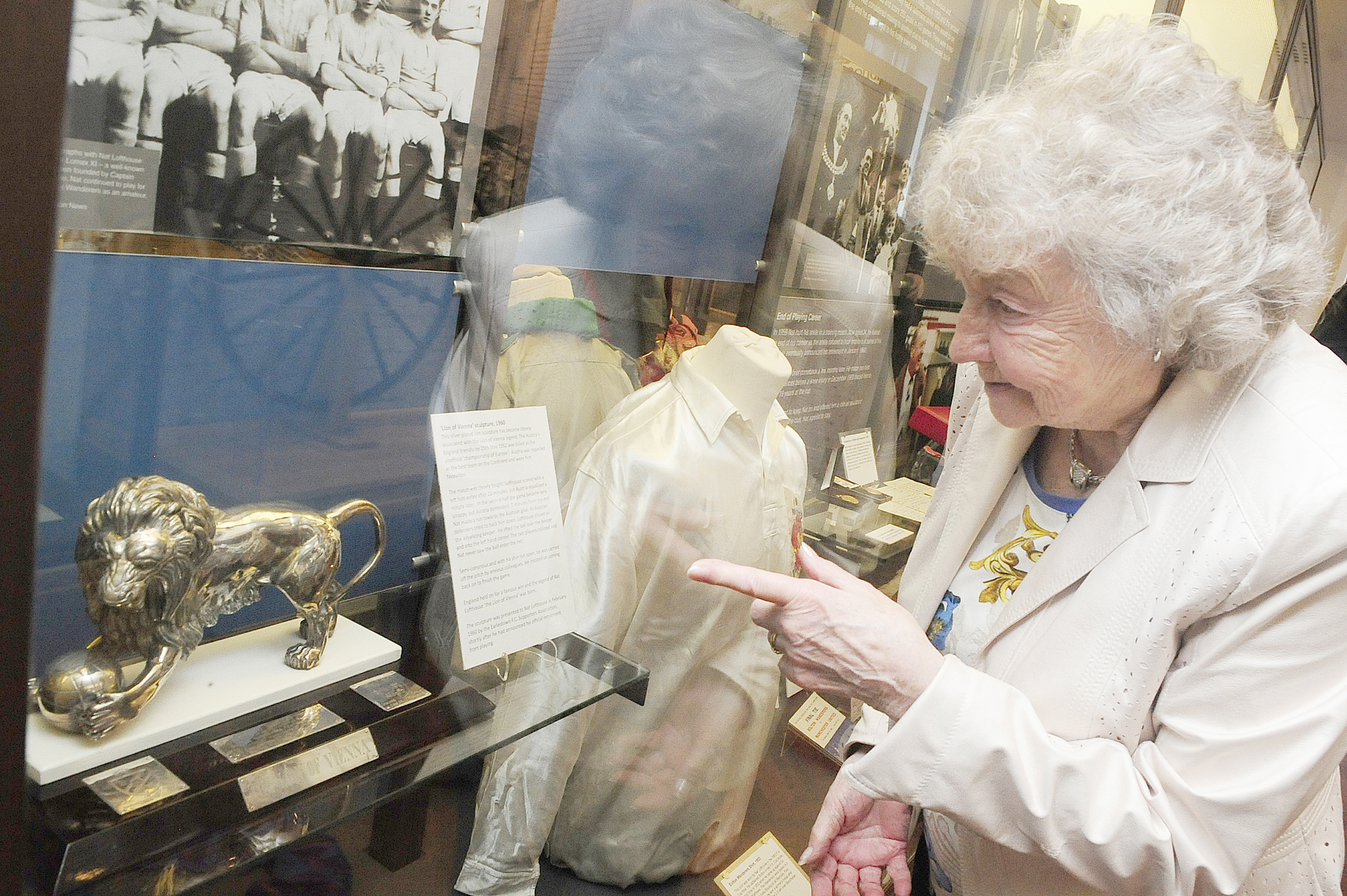 Nat Lofthouse's companion enjoys special viewing of his memorabilia