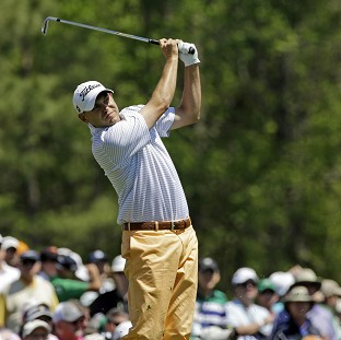 Bill Haas hold the clubhouse lead at Augusta (AP)