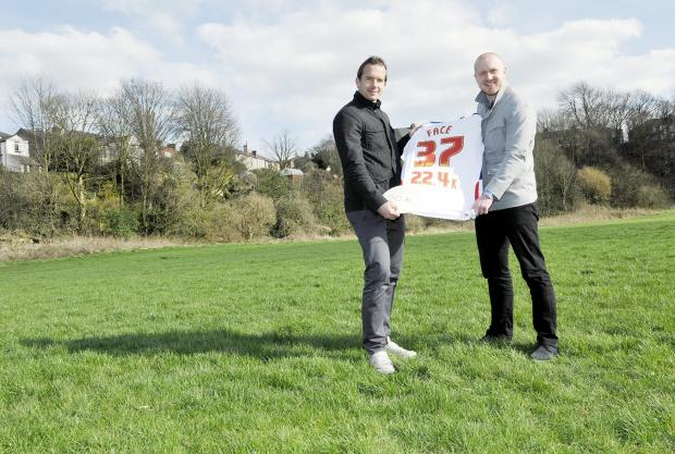 Kevin Davies and Rick Banks have donated a total of £42,400 to help build a new pitch at Horwich St Mary's